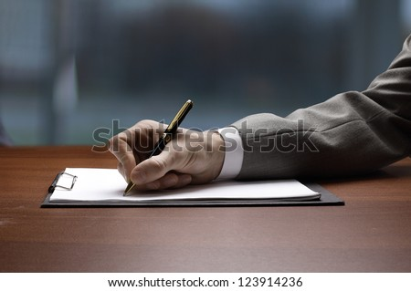 Recording of the work plan in the office. - stock photo