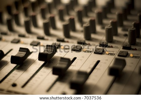 Recording Studio - Mixer - stock photo