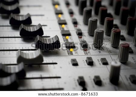 Recording Studio Mixer - stock photo