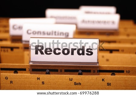 records word on business folder index showing office concept - stock photo