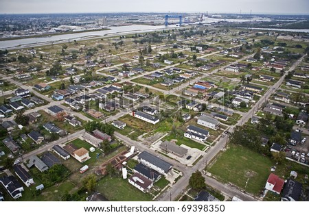 Recovery after Hurricane Katrina - stock photo