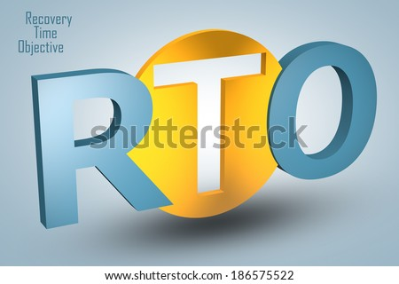 Recovery Time Objective - acronym 3d render illustration concept