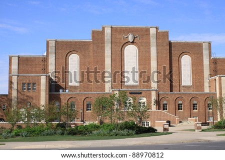 Recreation Hall Building, campus of the Pennsylvania State University - stock photo