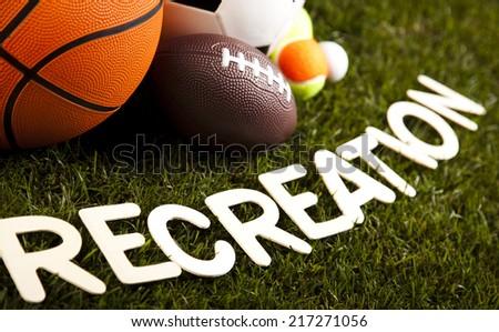 Recreation, sports equipment  - stock photo