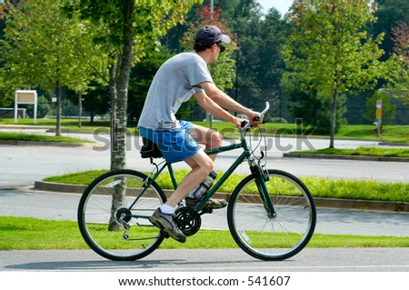 Recreational Biker - stock photo