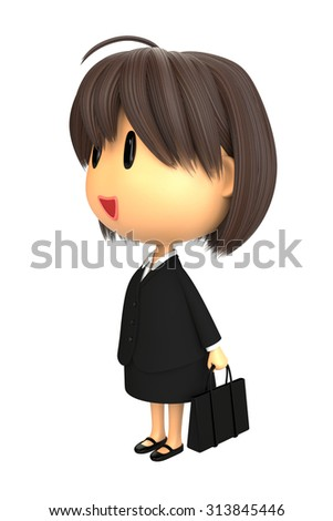 Recruit suit style of woman - stock photo