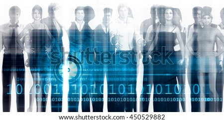 Recruitment Agency and Process as a Business Concept 3D Illustration Render - stock photo