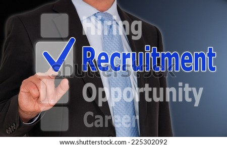 Recruitment - Business Concept - stock photo