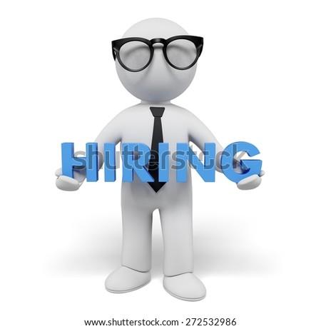 Recruitment. 3D. Hiring - stock photo