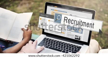 Recruitment Job Work Vacancy Search Concept - stock photo