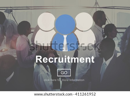 Recruitment Manpower Occupation Skills Staff Concept - stock photo