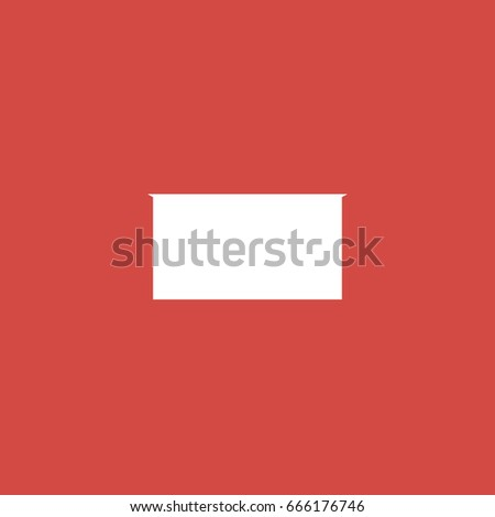 rectangle icon. sign design. red background