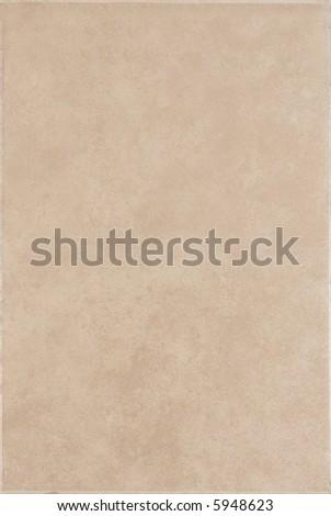 Rectangular brown ceramic tile - stock photo