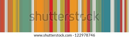 Rectangular panel with vibrant stripes