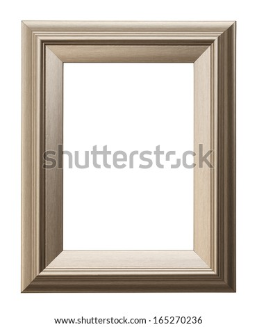 Rectangular Picture Frame Isolated on White Background. - stock photo