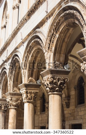 Rector's Palace in Dubrovnik, Croatia - stock photo