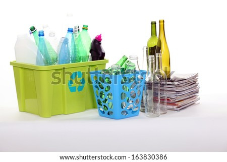 Recyclable packaging - stock photo