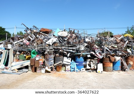 recyclable waste - stock photo