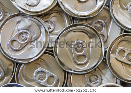 Recycle aluminum or metal can for your background