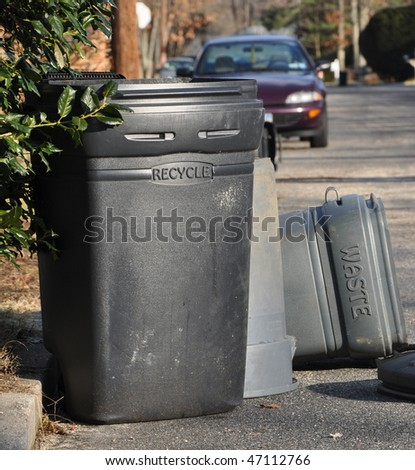 Recycle and Waste Receptacles - stock photo