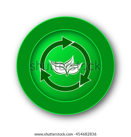 Recycle arrows icon. Internet button on white background.