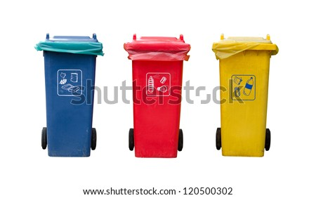 Recycle bin. This photo is isolated. - stock photo