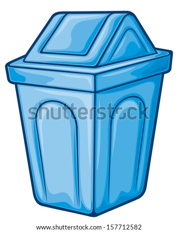 recycle bin (waste recycle can, waste bin, recycle trash can, waste can, trash can) - stock photo