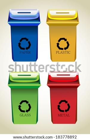 Recycle Bins - stock photo