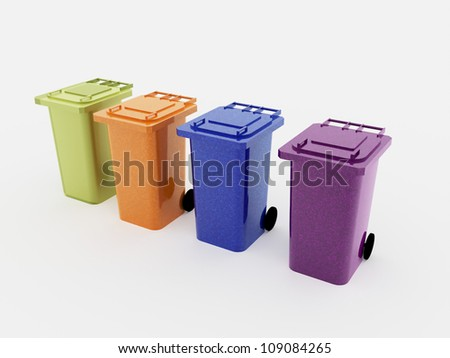 Recycle bins four isolated