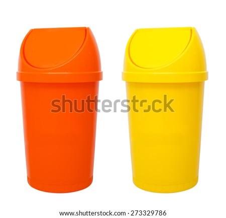 Recycle Bins Isolated - stock photo