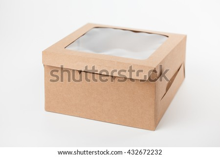 Recycle cake box on white background