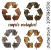 recycle ecological  Oak wood vintage abstract rusty colored background. - stock photo