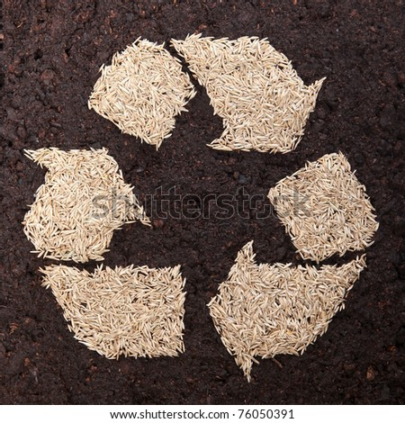 Recycle grass seed - stock photo