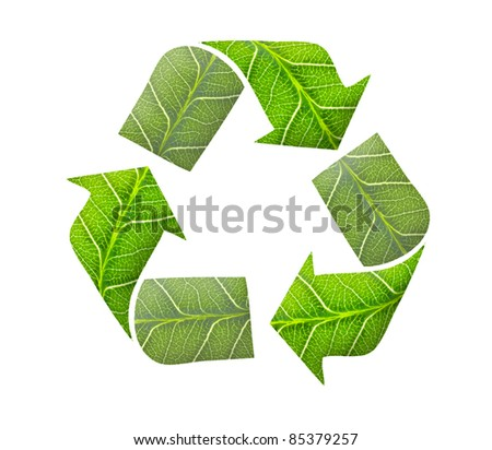 Recycle logo, green concept - stock photo