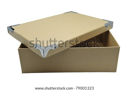 Recycle paper box isolated on white
