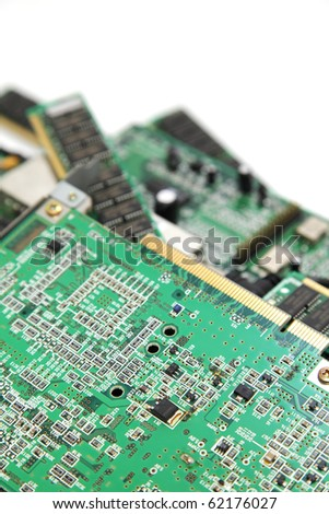 Recycle printed circuit board - stock photo