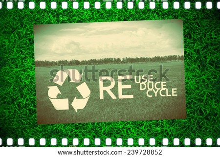Recycle reuse reduce environment background - stock photo