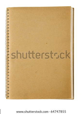 Recycle spiral notebook isolated on white background - stock photo
