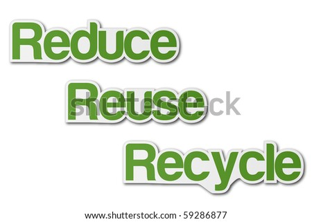 Recycle Stickers - stock photo