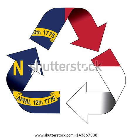 Recycle Symbol Flag North Carolina Stock Illustration 143667838