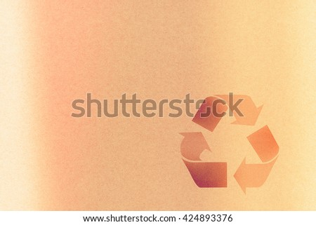 Recycle Symbol On recycle paper