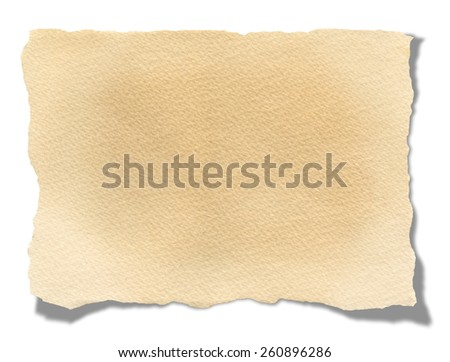Recycled Blank Paper. Isolated on white background.Clipping path. - stock photo