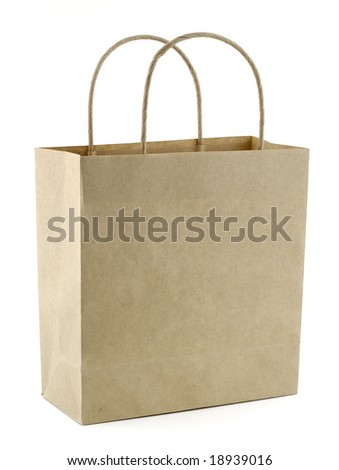 Recycled paper bag - stock photo