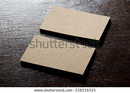 Recycled paper business cards mock stock photo edit now 228316525 recycled paper business cards mock up reheart Image collections
