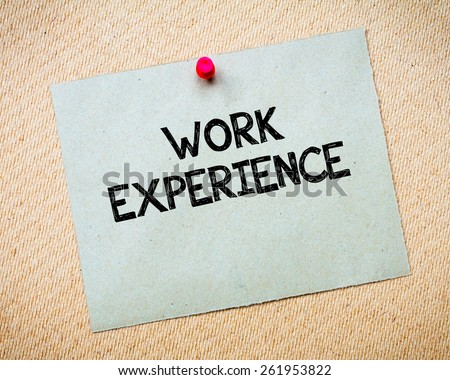 essay on work experience