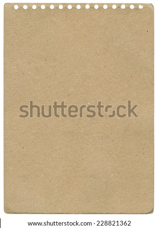 Recycled paper sheet, background texture.