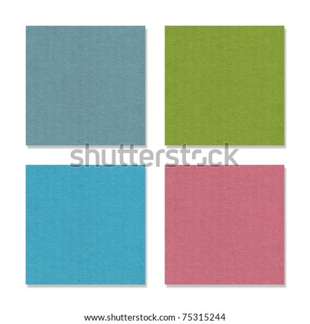 recycled paper stick - stock photo