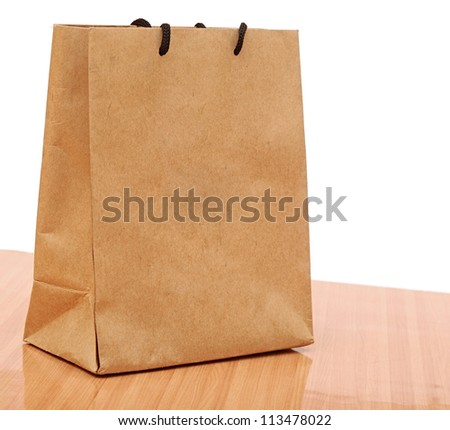 recycled shopping bag - stock photo