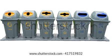 recycling and garbage bins /isolated