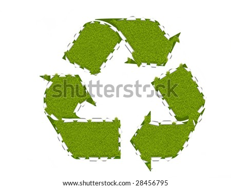 Recycling breakthrough, environmental concept, abstract illustration